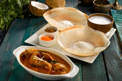 Appam with Chicken Curry